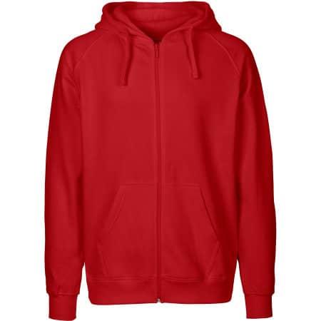 Men`s Zip Hoodie in Red von Neutral (Artnum: NE63301