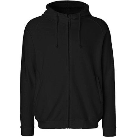 Unisex Hoodie with Hidden Zip in Black von Neutral (Artnum: NE63401