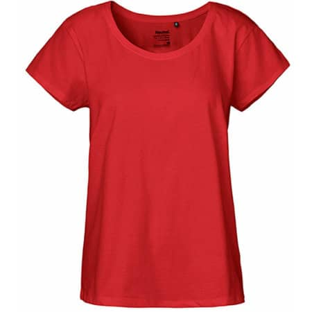 Ladies` Loose Fit T-Shirt in Red von Neutral (Artnum: NE81003