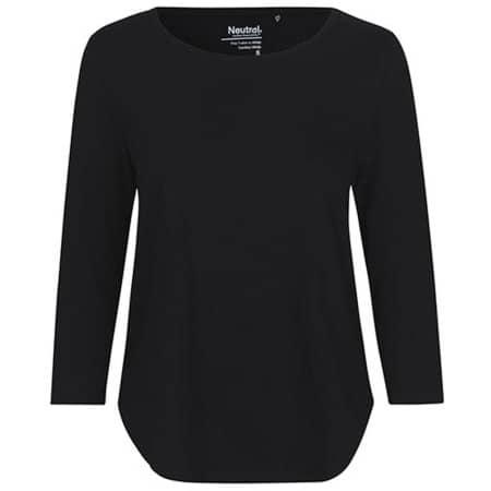 Ladies Three Quarter Sleeve T-Shirt in Black von Neutral (Artnum: NE81006