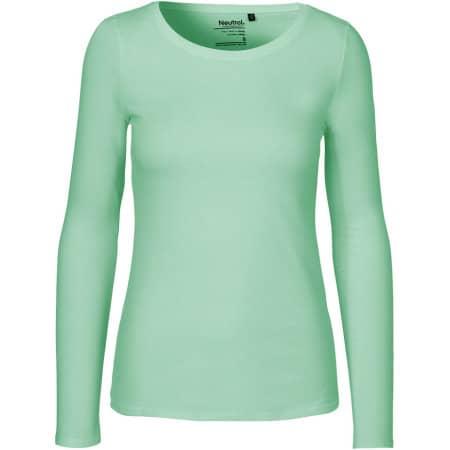 Ladies` Long Sleeve T-Shirt in Dusty Mint von Neutral (Artnum: NE81050