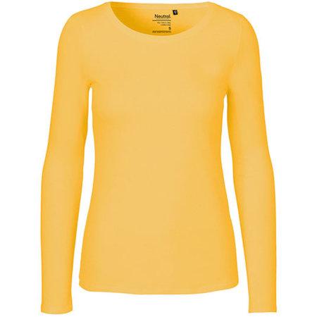 Ladies` Long Sleeve T-Shirt in Yellow von Neutral (Artnum: NE81050