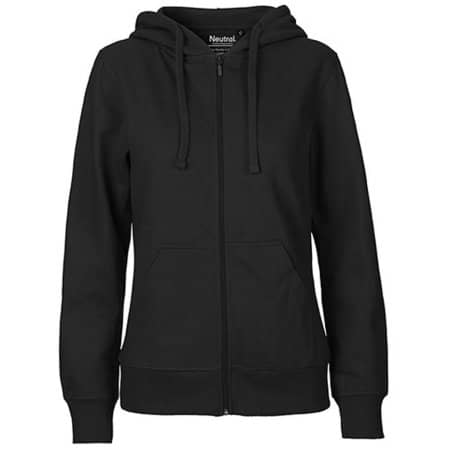 Ladies` Zip Hoodie in Black von Neutral (Artnum: NE83301