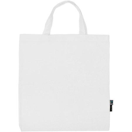 Shopping Bag Short Handles in White von Neutral (Artnum: NE90004