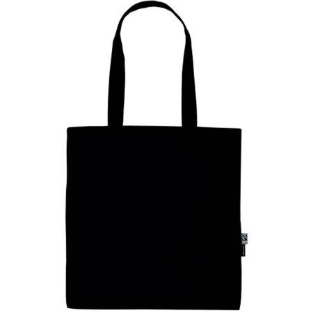 Shopping Bag with Long Handles in Black von Neutral (Artnum: NE90014