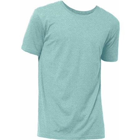 Bio - Short Sleeve T-Shirt in Green Turquoise Melange von Nath (Artnum: NH150