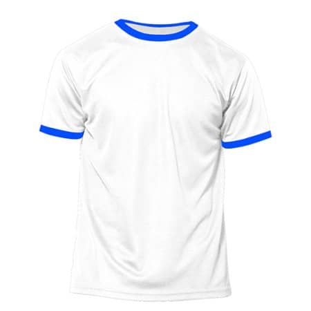 Action Kids - Short Sleeve Sport T-Shirt in White|Royal Fluor von Nath (Artnum: NH160K