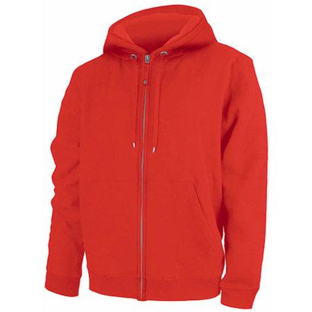 Men`s Hooded Sweat Jacket Tibet in Red von Nath (Artnum: NH400