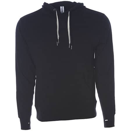 Unisex Midweight French Terry Hooded Pullover in Black von Independent (Artnum: NP304