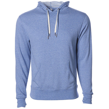 Unisex Midweight French Terry Hooded Pullover in Sky Heather von Independent (Artnum: NP304