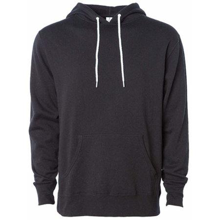 Unisex Lightweight Hooded Pullover in Black von Independent (Artnum: NP306