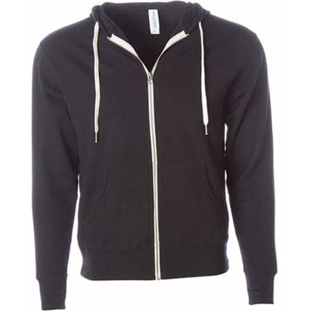 Unisex Midweight French Terry Zip Hood in Black von Independent (Artnum: NP354