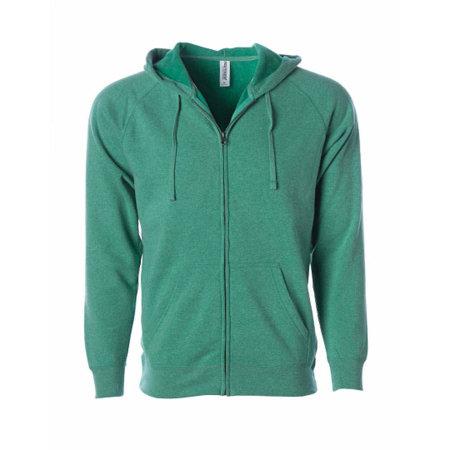 Unisex Midweight Special Blend Raglan Zip Hood in Sea Green von Independent (Artnum: NP355