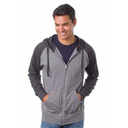 Men`s Lightweight Jersey Raglan Zip Hood von Independent (Artnum: NP356