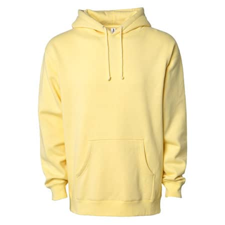 Men`s Heavyweight Hooded Pullover in Light Yellow von Independent (Artnum: NP380