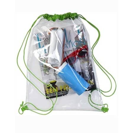 Transparent Backpack von Giving Europe (Artnum: NT0927