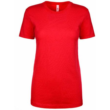 Ladies` Ideal T-Shirt in Red von Next Level Apparel (Artnum: NX1510