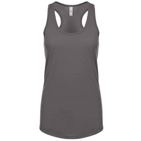 Ladies` Ideal Racerback Tank-Top in Dark Grey von Next Level Apparel (Artnum: NX1533
