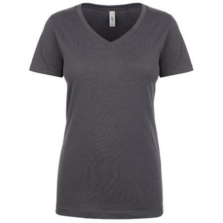 Ladies` Ideal V Neck-T in Dark Grey von Next Level Apparel (Artnum: NX1540