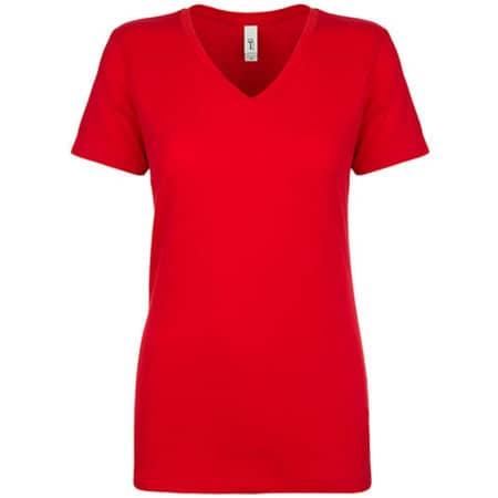 Ladies` Ideal V Neck-T in Red von Next Level Apparel (Artnum: NX1540