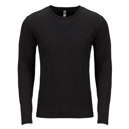 Men`s Long Sleeve Tri-Blend T-Shirt in Vintage Black (Tri-Blend) von Next Level Apparel (Artnum: NX6071