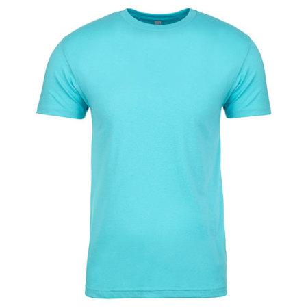 Men`s Sueded T-Shirt in Tahiti Blue (Sueded) von Next Level Apparel (Artnum: NX6410