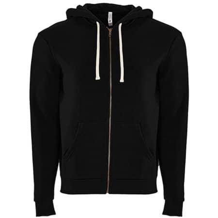 Unisex 80/20 Fleece Zip Hoody in Black von Next Level Apparel (Artnum: NX9602
