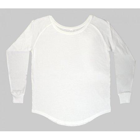 Women`s Loose Fit Long Sleeve T in White von Mantis (Artnum: P97