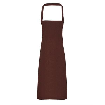 Cotton Apron (No Pocket) in Brown (ca. Pantone 476) von Premier Workwear (Artnum: PW102