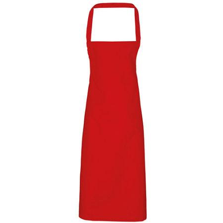 Cotton Apron (No Pocket) in Red (ca. Pantone 200) von Premier Workwear (Artnum: PW102