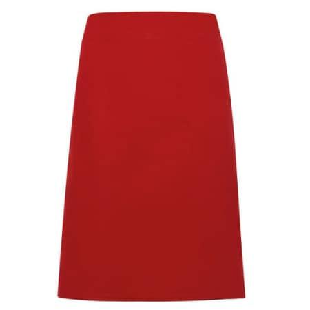 Calibre Heavy Cotton Canvas Waist Apron in Red von Premier Workwear (Artnum: PW131