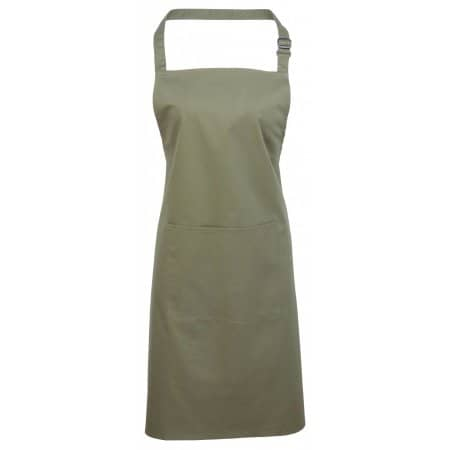 Colours Bib Apron With Pocket in Sage (ca. Pantone 5497) von Premier Workwear (Artnum: PW154