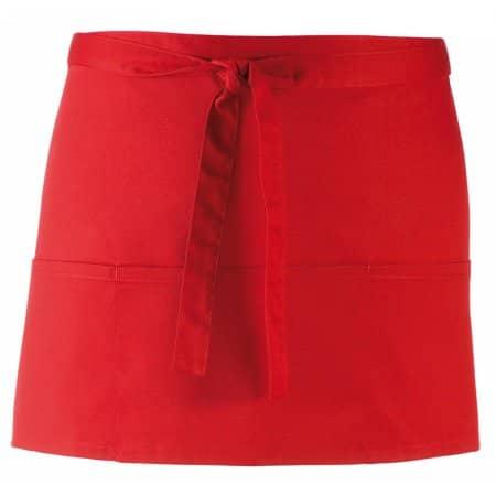 Taschenschürze ´Colours´ in Red (ca. Pantone 200) von Premier Workwear (Artnum: PW155