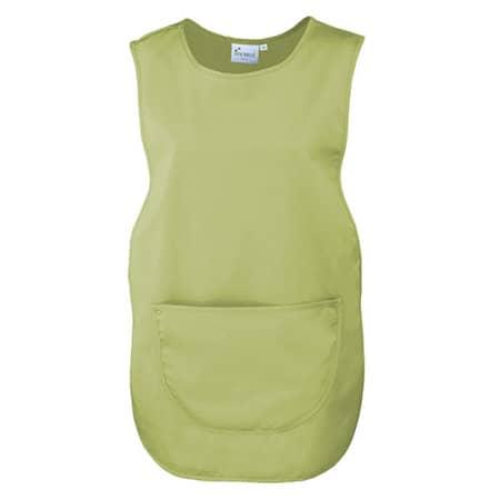 Women`s Pocket Tabard in Lime (ca. Pantone 382) von Premier Workwear (Artnum: PW171