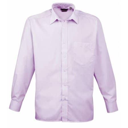 Poplin Long Sleeve Shirt (Herrenhemd/Langarm) in Lilac von Premier Workwear (Artnum: PW200