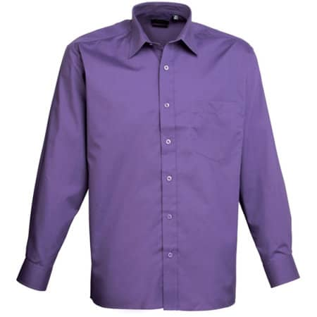 Poplin Long Sleeve Shirt (Herrenhemd/Langarm) von Premier Workwear (Artnum: PW200