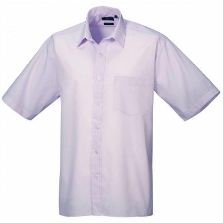 Poplin Short Sleeve Shirt (Herrenhemd/Kurzarm) in Lilac von Premier Workwear (Artnum: PW202