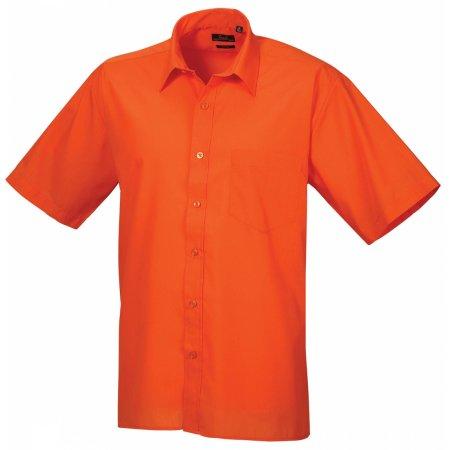 Poplin Short Sleeve Shirt (Herrenhemd/Kurzarm) in Orange von Premier Workwear (Artnum: PW202