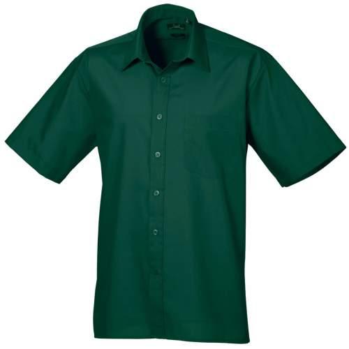 Premier Workwear - Poplin Short Sleeve Shirt (Herrenhemd/Kurzarm)