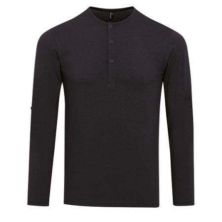 Mens Long-John Roll Sleeve Tee in Black von Premier Workwear (Artnum: PW218