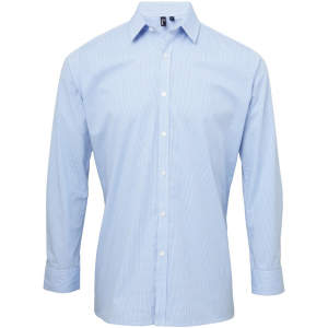 Men`s Microcheck (Gingham) Long Sleeve Shirt