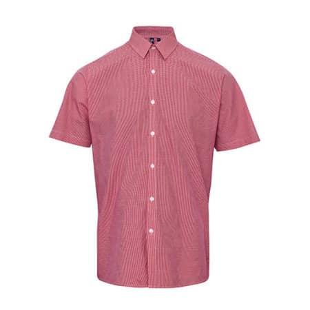 Men`s Microcheck (Gingham) Short Sleeve Shirt Cotton von Premier Workwear (Artnum: PW221