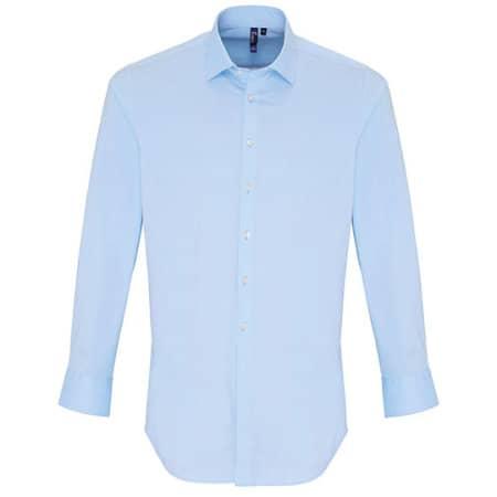 Mens Stretch Fit Poplin Long Sleeve Cotton Shirt von Premier Workwear (Artnum: PW244