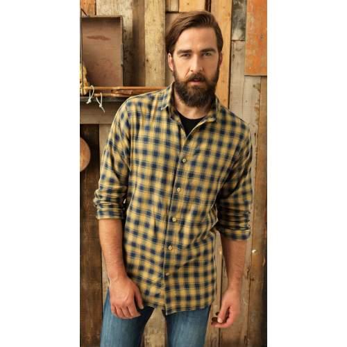 Premier Workwear - Men`s Mulligan Check Cotton Long Sleeve Shirt