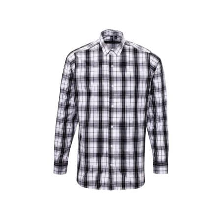 Ginmill Check Mens Long Sleeve Cotton Shirt von Premier Workwear (Artnum: PW254