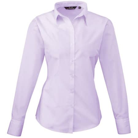 Ladies` Poplin Long Sleeve Blouse von Premier Workwear (Artnum: PW300
