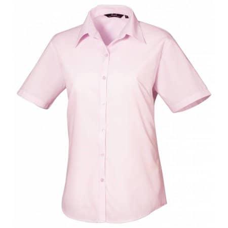 Ladies` Poplin Short Sleeve Blouse von Premier Workwear (Artnum: PW302
