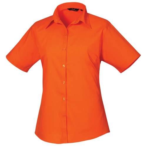 Premier Workwear - Ladies` Poplin Short Sleeve Blouse