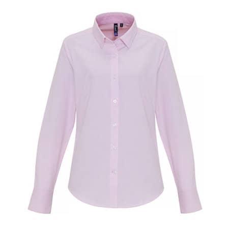 Ladies Cotton Rich Oxford Stripes Shirt von Premier Workwear (Artnum: PW338