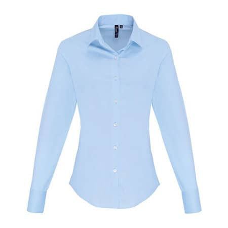 Ladies Stretch Fit Cotton Poplin Long Sleeve Shirt von Premier Workwear (Artnum: PW344